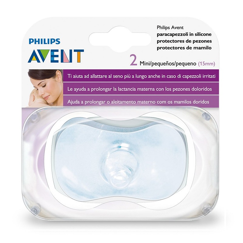 Protector de Pezon AVENT Silicon Chico 15mm (2pzas)
